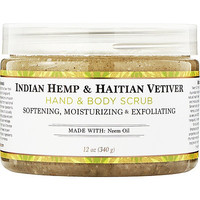 Indian Hemp & Haitian Vetiver Bath & Body Scrub