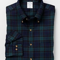 Slim Fit Black Watch Flannel Sport Shirt | Brooks Brothers ($50-100)