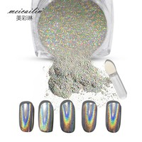 Shiny  Laser  Holographic  Powder  Rainbow  Nails