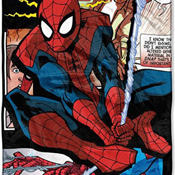 Marvel Spiderman Throw Blanket Origins 46 x 60