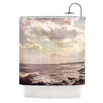 "Debbra Obertanec ""Rocky Coast"" Sea View Shower Curtain"