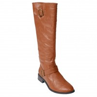Brinley Co. Womens Buckle Detail Tall Boot - Shoes - MyFashionCorner
