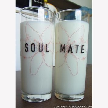 SoulMate™ His and Hers Drinking Glasses-Wedding Gifts,Wedding Gifts for Couples,Wedding Gifts for Bride and Groom,His and Hers Gifts,Anniversary Gifts,His and Hers Gifts