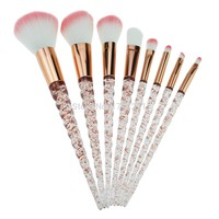 Rose Gold Unicorn Horn glitter makeup brushes