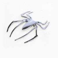 3D Car Metal Spider Stickers Auto Body Sticker Gold Silver Strips Outside Decoration Decor Decals Scratches Blocking Accessories