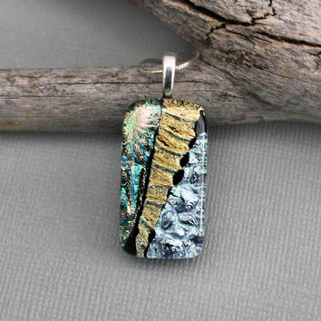 JEWELRY SALE - Dichroic Pendant - Clearance Sale - One of a Kind Jewelry - Pendant Only - Unique Pendant Necklace - Dichroic Sale