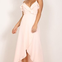 Something Like Love maxi dress in blush Produced By SHOWPO