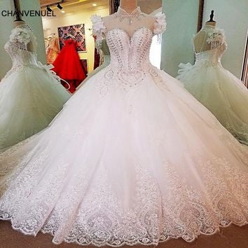 LS3372 special wedding dresses lace ball gown corset back wedding gowns 2017 robe de mariage real photos