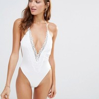 Blue Life | Blue Life Bridal Mirage Textured Swimsuit at ASOS
