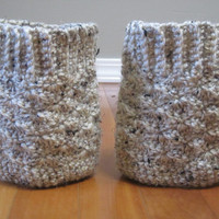 Crochet Boot Cuffs - Knit, leg warmer, women, girl, fall, winter