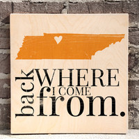 Nashville Home Sign, Tennessee Wall Art, Nashville Wall Art, City Home sign, State Art, Home sweet Home, Home Decor, Rustic Sign