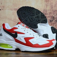 HCXX 19Sep 924 Nike Air Max2 Light Habanero Red AO1741-101 Sneakers Mesh Runnning Shoes