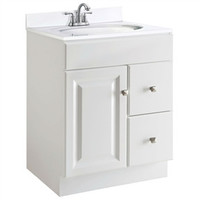24-inch Modern Bathroom Vanity Cabinet Set in White Semi-Gloss