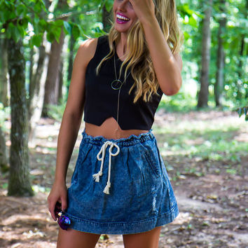 Dusty Road Denim Skirt