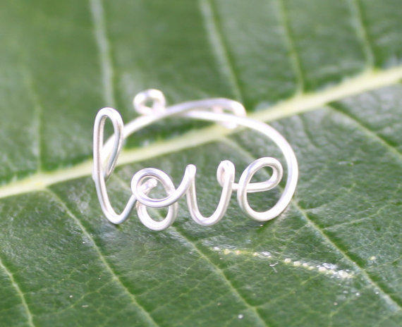 Wire Love Ring Adjustable Fit Most Size FREE by FabulousWire
