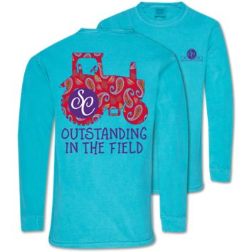 Southern Couture Outstanding Tractor Comfort Colors Long Sleeve T-Shirt