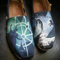Frozen and Wicked Handpainted Disney Custom Toms