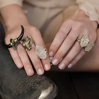 Gelfling Crystal Ring - Brass | Spell & the Gypsy Collective