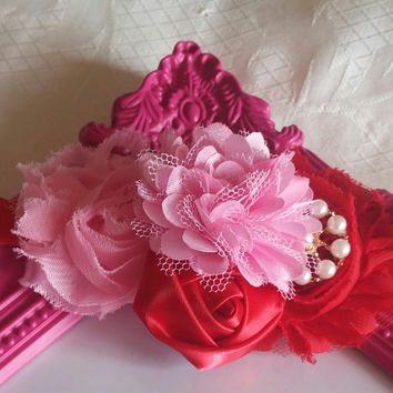 Red and Pink Fancy Headband