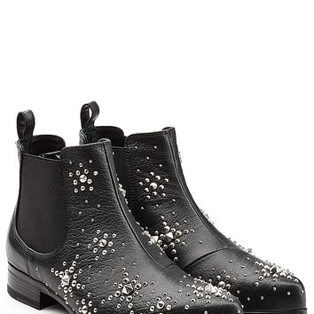 Alexander McQueen - Embellished Leather Ankle Boots