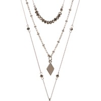 Vince Camuto | Multi Layer Blue Glass Pendant Necklace | Nordstrom Rack