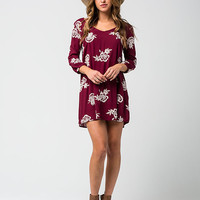 FULL TILT Embroidered Floral Dress | Short Dresses