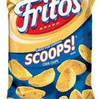 Fritos Corn Chips, Scoops, 10.25 Ounce (Pack of 4)