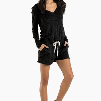 Arroyo Long Sleeve Romper - Black Cat
