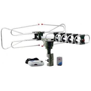 QFX HD-DTV-UHF-VHF-FM 360 Degree Motorized Rotating Antenna