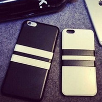 Black and White Leather Silicone Case for iPhone 4 4s 5 5s 6 6s 6Plus 6sPlus