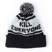 Kill Everyone Beanie Black | Indcsn