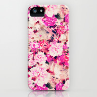 Elegant Pink Chic Floral Pattern Girly Peonies iPhone & iPod Case by Girly Road