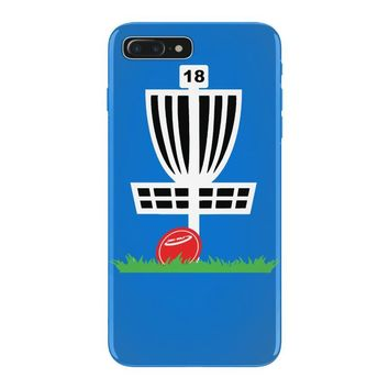 disc golf frisbee leaning on target basket innova iPhone 7 Plus Case