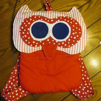 Owl Backpack Red Hearts Child Teen Valentine's Day!