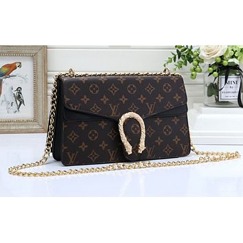 Gucci sells all-color ladies'one-shoulder shopping bags LV pattern black