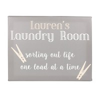 Personalized Laundry Room Canvas