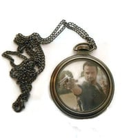 AMC The walking Dead Rick Grimes Pocket Watch Necklace Pendant Limited costume cosplay