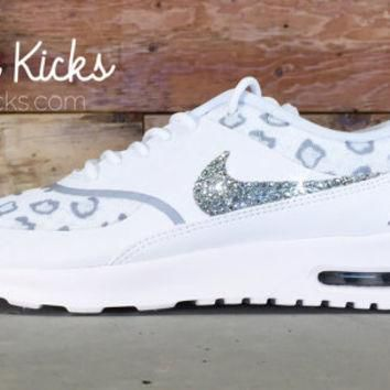 Blinged Out Nike Air Max Thea Running Shoes - Blinged Out With Swarovski Elements Crys
