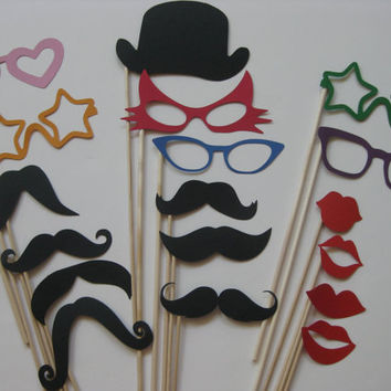 Photo Booth Props The Party Collection 18 by olivetreemonograms