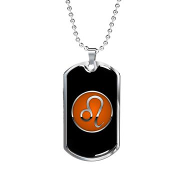 Zodiac Sign Leo v2 - Luxury Dog Tag Necklace