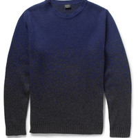 PS by Paul Smith - Ombre-Effect Knitted Sweater | MR PORTER
