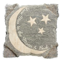 Primitives by Kathy 'Moon & Back' Pillow - Grey