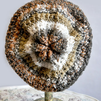 Beautiful slouch hat beanie in autumn colours