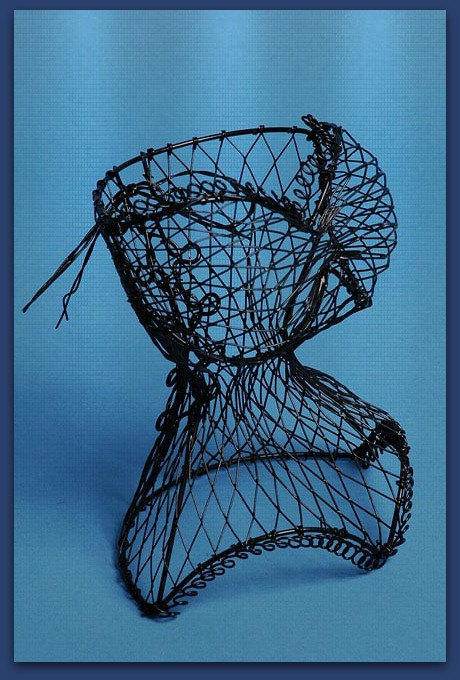 Wire Dress form Ladies Corset / Jewelry from MoreFriendsAndCo on