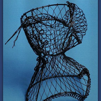 Wire Dress form Ladies Corset / Jewelry Mannequin / Corset Bridal Shower Centerpiece / Sweet 16 Party Wedding Party