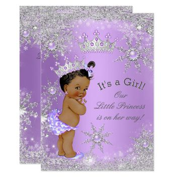 Ethnic Princess Baby Shower Lavender Wonderland Card