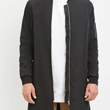 Longline Collarless Jacket