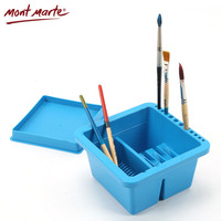 Mont Marte Brush Washing Bucket Multifunction Wash Pen Barrel Brush Washer Art Supplies