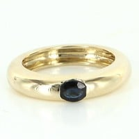 Vintage Sapphire 14 Karat Gold Stacking Ring Estate Fine Jewelry Pre Owned Sz 6