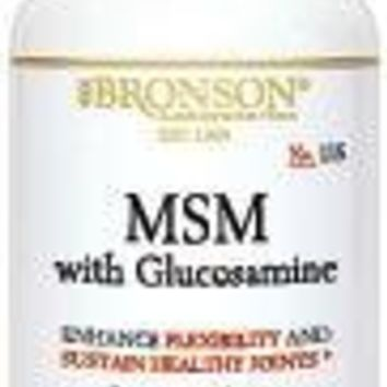 [Pack of 2] Bronson MSM with Glucosamine, 120 Capsules Each